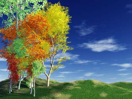Autumn landscape Stock Photo - 4356780