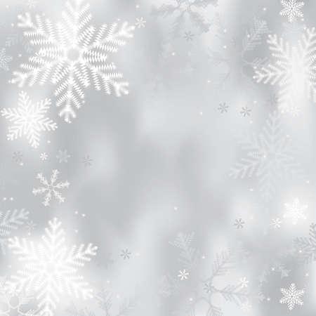 Fond d'hiver avec des flocons de neige Vecteurs