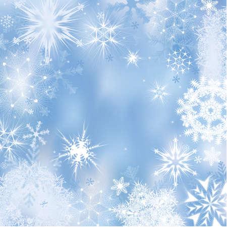 Dreamlike winter background. Vector illustration