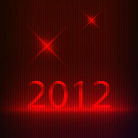 New year background. Vector illustration Stock Vector - 10527843