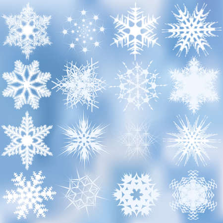 Set of beautiful complex snowflakes Stock Vector - 10621610