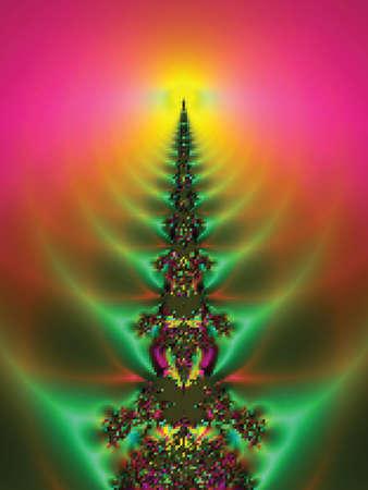 Christmas tree. Vector illustration Stock Vector - 10716241