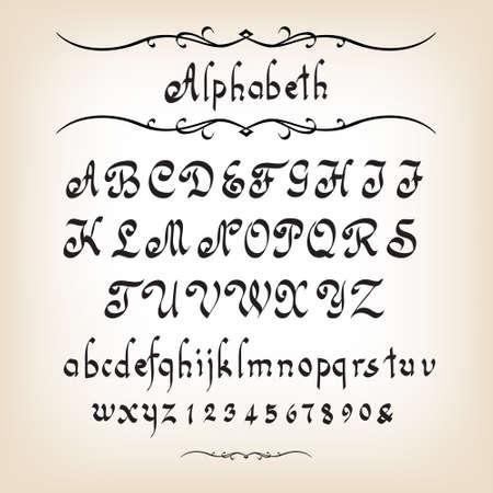 Kaligraficzna alfabet