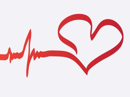 hjärtslag: Hjärtslag Illustration