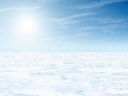 wintery: Winter landscape. illustration