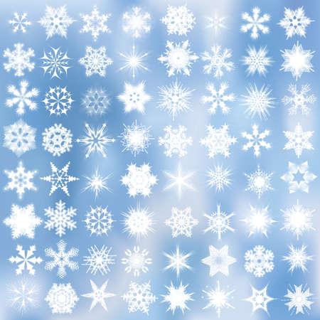 rime: Set of decorative snowflakes