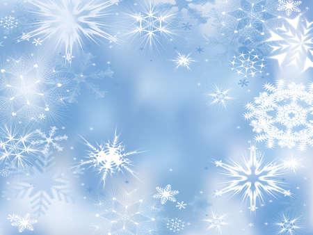 snow falling: Winter dream. Background with snowflakes.