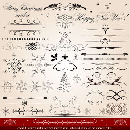 Calligraphique éléments design vintage