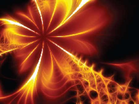 Decorative flaming flower. Vector illustration Stock Vector - 11127866