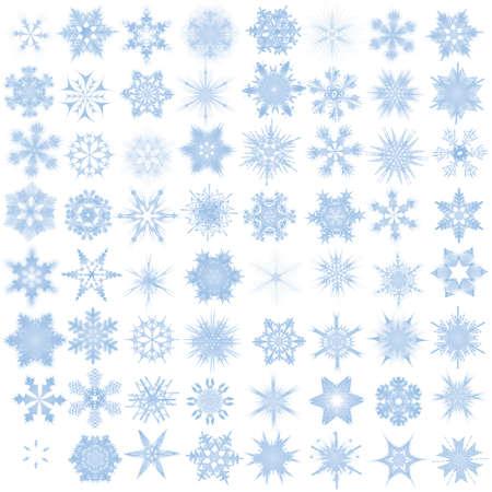 Dekorative Schneeflocken. Vektor-Illustration