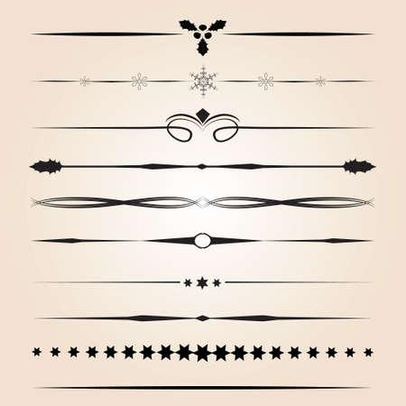 Éléments de conception décorative Vecteurs