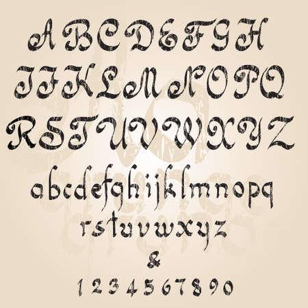 cartas antiguas: Grunge alfabeto.