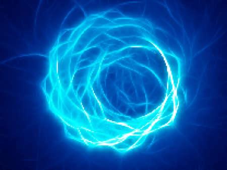 Blue energy. Swirl Vector