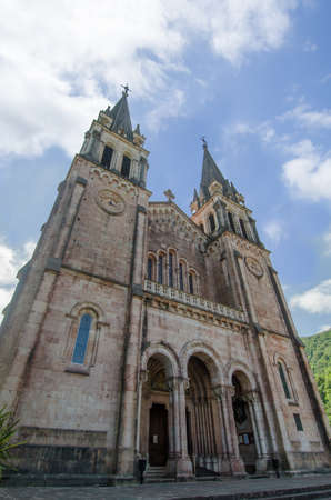 covadonga: Old church place on Asturias  Spain   Famous by Virgin of Covadonga and close to Covadonga