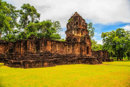 Cambodian style temple was built more than 800 years ago