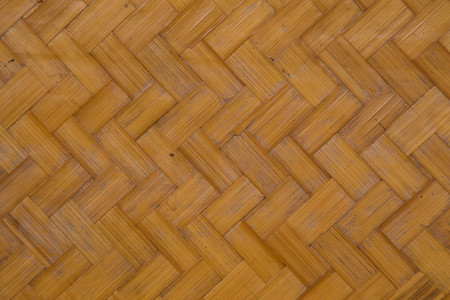 This bamboo weaving is handmade. Stock Photo