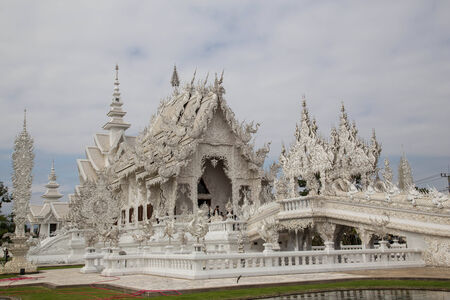 This white temple is very stunning. Stock Photo
