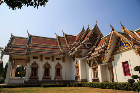 Traditional Thai styled temple in Bangkok.