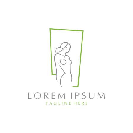 Woman body sensual logo vector color