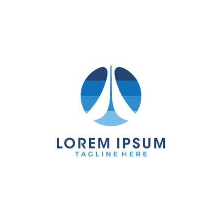 A letter blue layers color logo vector Logo