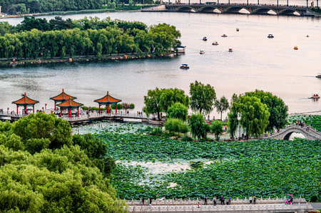 Landscape of Nanhu Park in Changchun, China