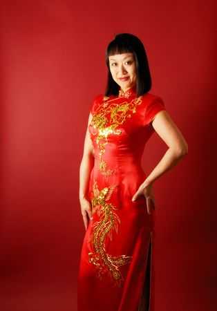 Portrait of a Chinese bride Stock Photo - 1237200