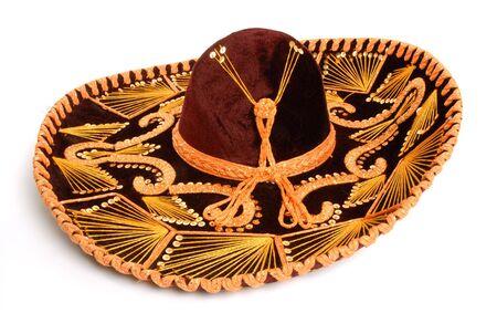 sombrero: Side view of a Mexican sombrero