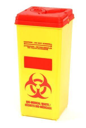 hazardous waste: Bio-Medical Waste Box Stock Photo