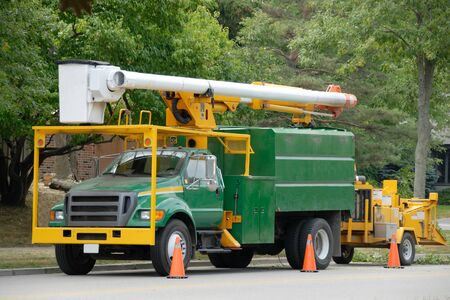 Truck With A Wood Chipper