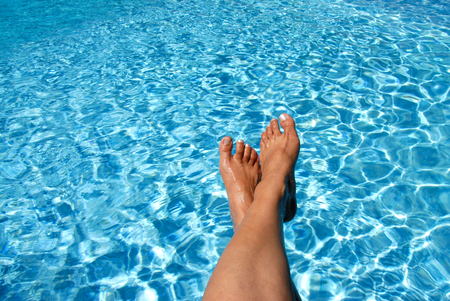 Feet Over the Pool