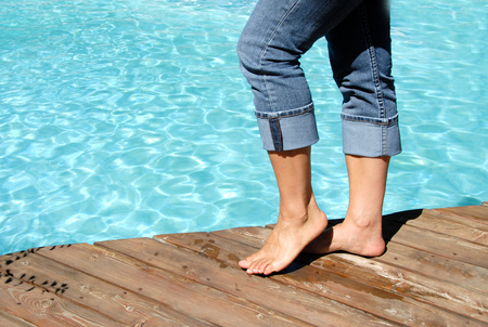 edge: Barefeet by the Pool