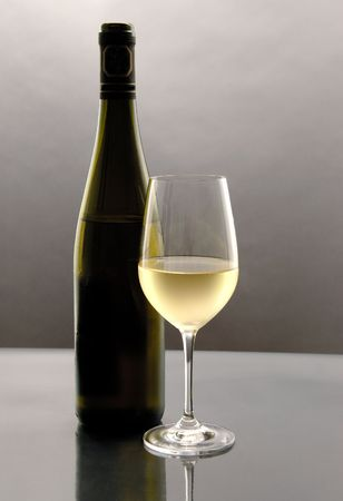 Glass of White Wine photo