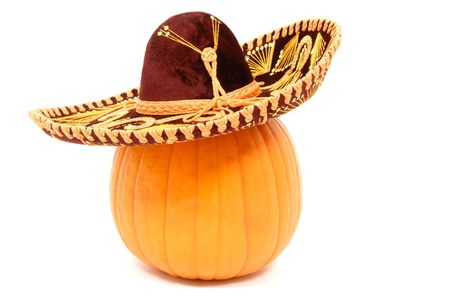 Pumpkin in Sombrero photo
