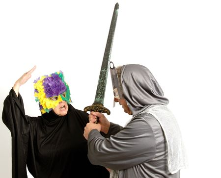 A Couple with Costumes photo