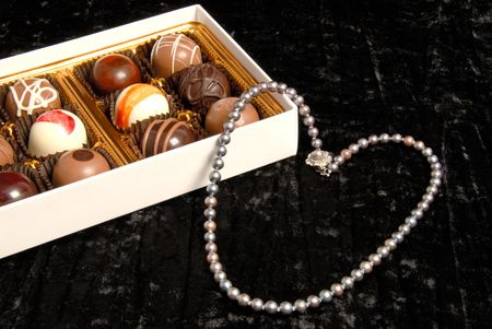 Chocolate and black pearls photo