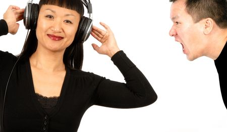 Woman with Headphones photo