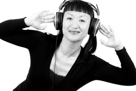 Woman with Headphones Stock Photo - 2085689