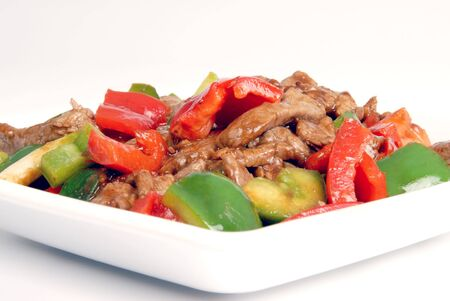 enticing: Stir-fried Beef Stock Photo