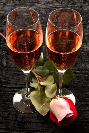 Pink Champagne and Rose