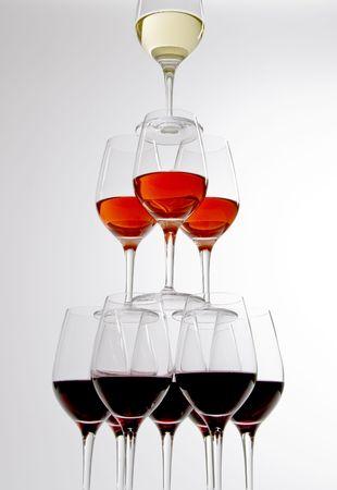 Pyramid of Wine Glasses