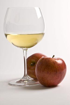 White Wine and Apples Фото со стока