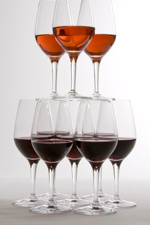 Two Tiers of Wine Glasses