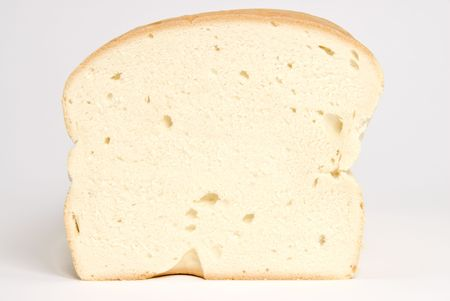 Cross Section of a Loaf of Dense White Bread Stock Photo - 2845891