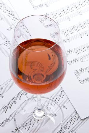 sheet music: Wine and Music