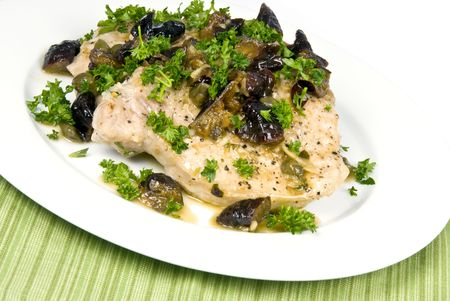 Oven Roasted Porkchops with Capers and Prunes Zdjęcie Seryjne