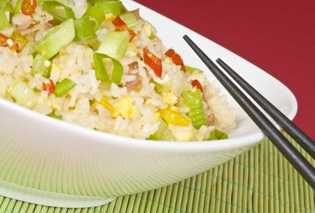 Egg and Ham Fried Rice