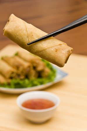 Deep Fried Spring Rolls photo