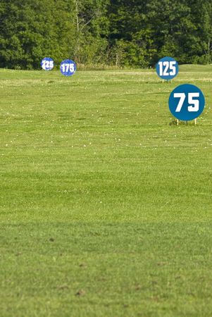 distance: Distance Markings on a Driving Range