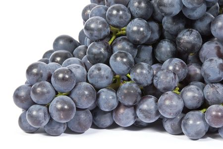 Purple Grapes Isolated on White Stock Photo - 3511793