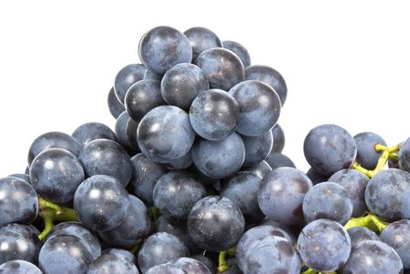 Purple Grapes Isolated on White Stock Photo - 3511791